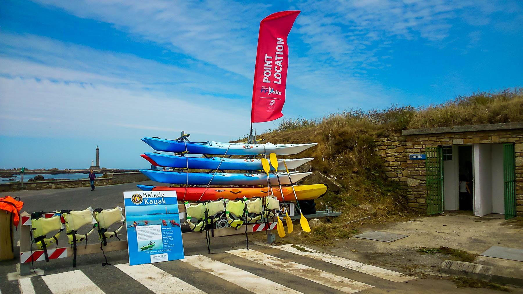 Locations de kayak et paddle à Kervenny à Lilia Plouguerneau