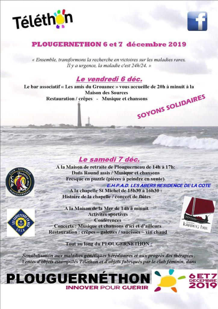 téléthon club nautique plouguerneau finistère bretagne loisir voile sport